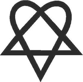 Heartagram Decal / Sticker 01