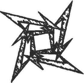 Metallica Star Decal / Sticker 03