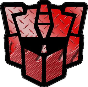 Autobot G2 Red Carbon Plate Decal / Sticker