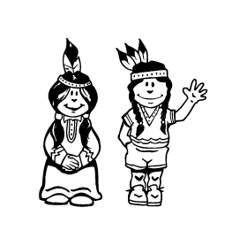 Braves / Indians / Chiefs Mascot Decal / Sticker man and woman