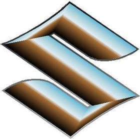 Simulated 3D Chrome Suzuki Logo Decal / Sticker