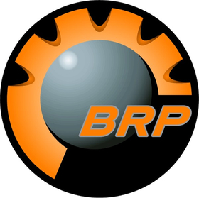 Orange BRP Decal / Sticker 10
