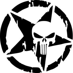 Punisher Star Decal / Sticker 113