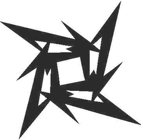 Metallica Star Decal / Sticker 04