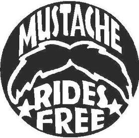 Free Mustache Rides Decal / Sticker