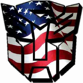 American Flag Autobot 06 Decal / Sticker
