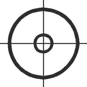 Bulls Eye Decal / Sticker 01
