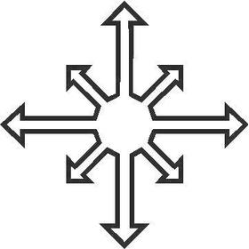 Chaos Logo Decal / Sticker 02
