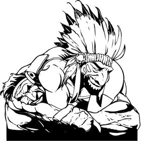 Wrestling Chiefs Mascot Decal / Sticker