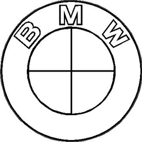 BMW Black and White Decal / Sticker 09