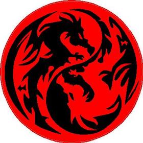 Yin Yang Dragons Decal / Sticker