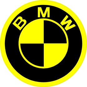 BMW Yellow Decal / Sticker 19