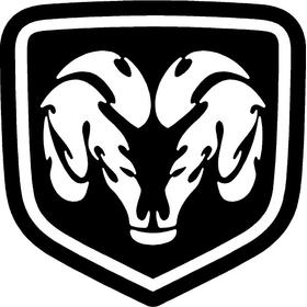 Ram Emblem Decal / Sticker 24