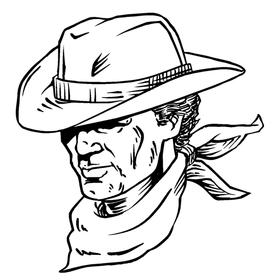 Cowboys Mascot Decal / Sticker 5