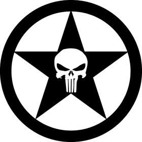 Punisher Star Decal / Sticker 36
