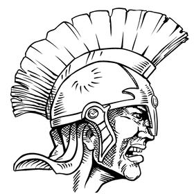 Paladins / Warriors Mascot Decal / Sticker 3