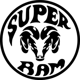 SuperRam Decal / Sticker 07