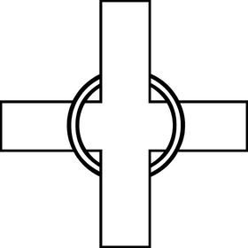 Christian Cross Decal / Sticker 63