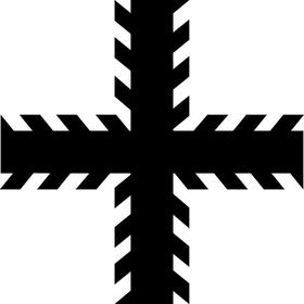 Christian Cross Decal / Sticker 89