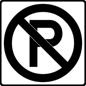 No Parking Decal / Sticker 08