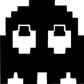 PacMan Ghost decal / sticker 02
