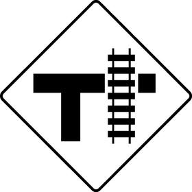 Railroad Crossing Decal / Sticker 05