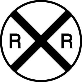 Railroad Crossing Decal / Sticker 08