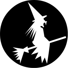 Flying Witch Decal / Sticker 06