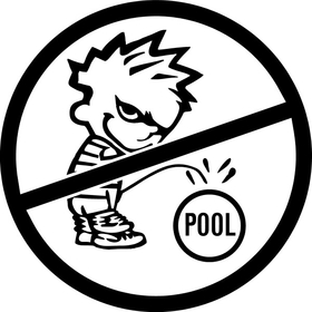 Z1 Don't Pee in Our Pool Decal / Sticker