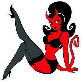 Devil Woman Decal / Sticker