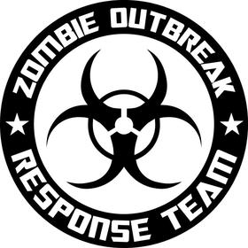 ' Zombie Outbreak Response Team Decal / Sticker 05
