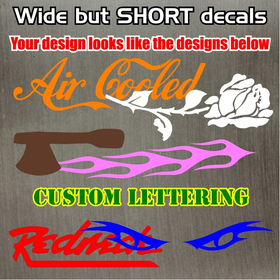 Custom Decal / Sticker Quote A (Short Decals)