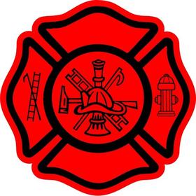 Firemand Maltese Crest Decal / Sticker 05