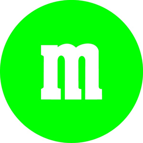 Green M&M Decal / Sticker 30