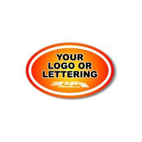 Oval Custom Decal / Sticker Quote (Standard White Material)