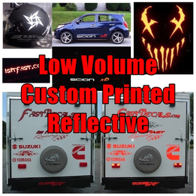 Full Color Reflective Print Decal Quote