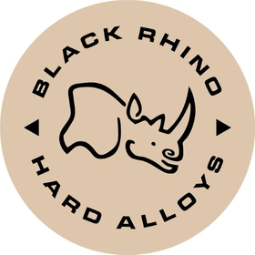 Black and Beige Black Rhino Hard Alloys Decal / Sticker 10