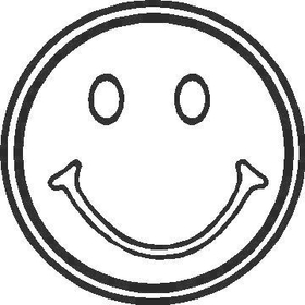 Happy Face Decal / Sticker 02