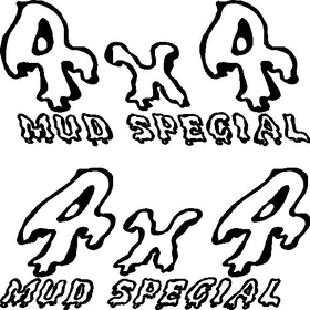 Z 4x4 Mud Special Decal Set