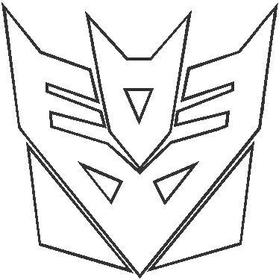 Transformers Decepticon Outline Decal / Sticker