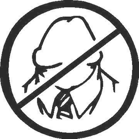 No Dick Heads Decal / Sticker