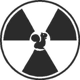 Squirrel Radiation Decal / Sticker