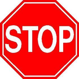 Stop Sign Decal / Sticker