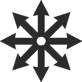 Throwing Star Decal / Sticker 02