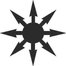 Throwing Star Decal / Sticker 03