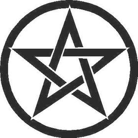 Pentagram Decal / Sticker 04