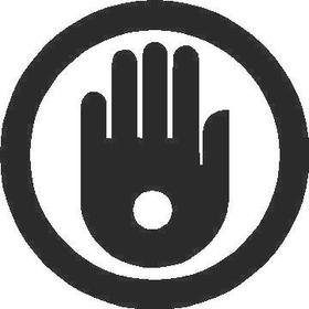 Pierced Hand Decal / Sticker