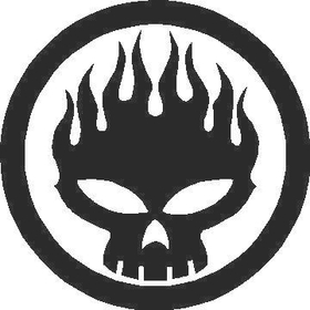 Flaming Skull Decal / Sticker 05
