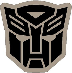 Black and Silver Autobot Decal / Sticker 23
