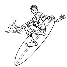 Surfer Decal / Sticker